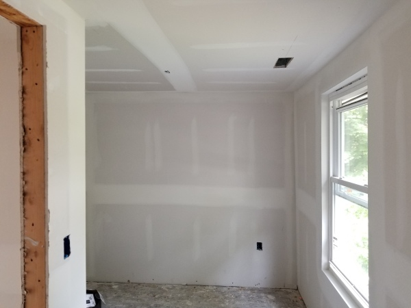 sheetrock done in bedroom