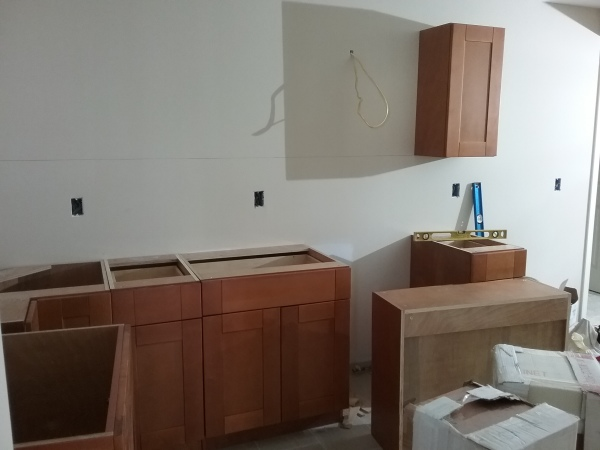 started kitchen installation