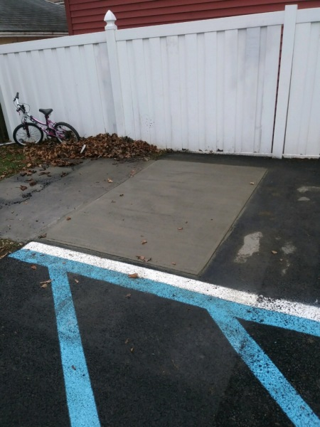 New concrete pad