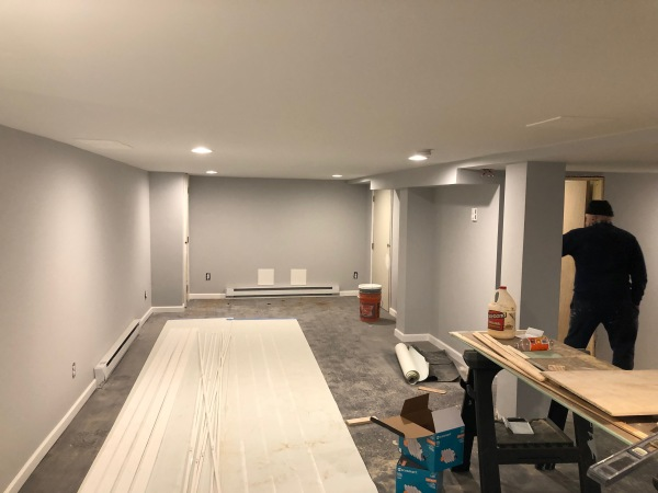 Here we go : finished basement